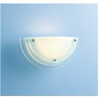 Reno Wall Light - Frosted Clear Glass - 32cm