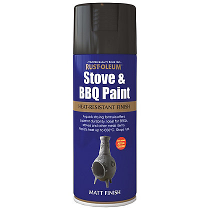 Image for Rust-Oleum Black - Stove and BBQ Spray Paint - 400ml from StoreName