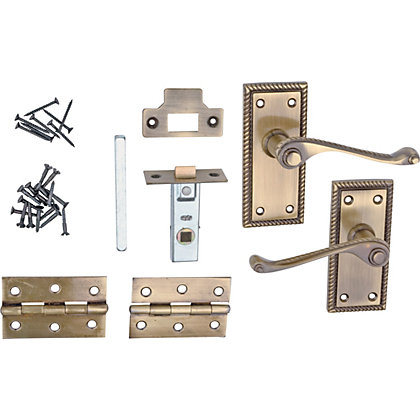 Image for Value Georgian Internal Door Pack - Antique Brass from StoreName