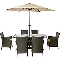 Panama 6 Seater Rattan Garden Furniture Set