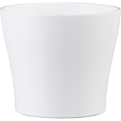 Image for Panna Indoor Plant Pot in White - 17cm from StoreName
