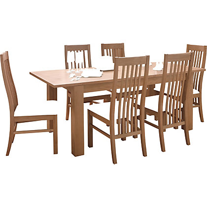Image for Constable Extending Dining Table and 6 Wooden Chairs from StoreName