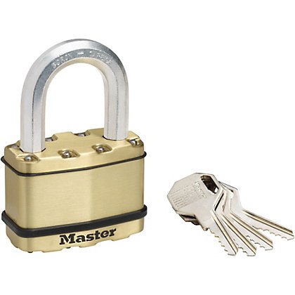 Image for Master Lock Excell Laminated Steel Padlock with Brass Finish - 64mm from StoreName