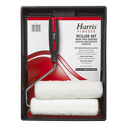 Image for Harris Finesse Microfibre 2 Sleeve Roller Set - 9in from StoreName