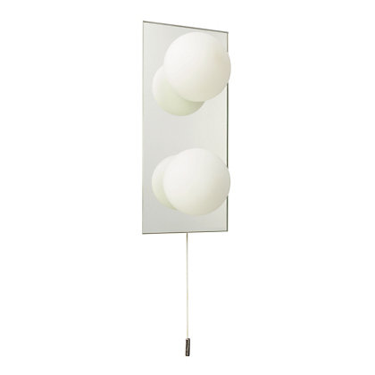 Image for Globe Wall Light - 2-Light - Chrome from StoreName