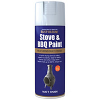 Rust-Oleum Silver - Stove and BBQ Spray Paint - 400ml