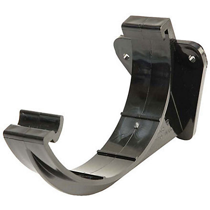 Image for 112mm Half Round Support Bracket - Black - 125 x 70 x 90mm from StoreName