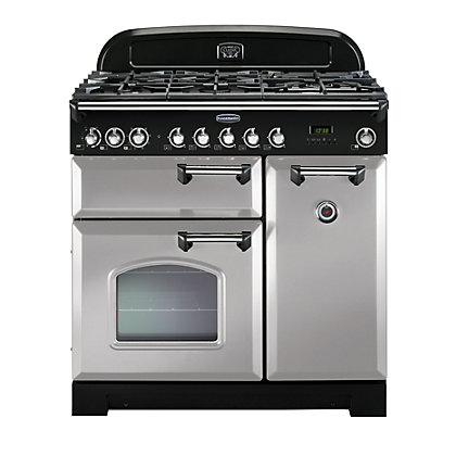Image for Rangemaster Classic Deluxe 90cm Dual Fuel Range Cooker - Royal Pearl from StoreName