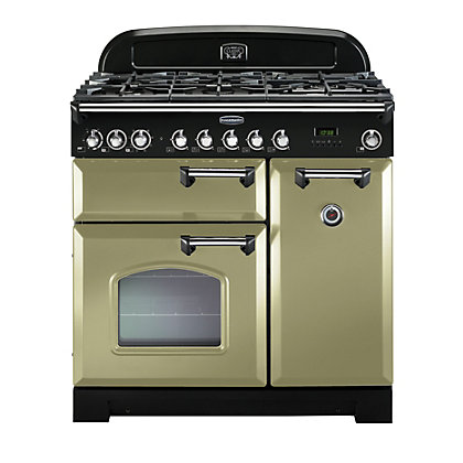 Image for Rangemaster Classic Deluxe 90cm Dual Fuel Range Cooker - Olive Green from StoreName