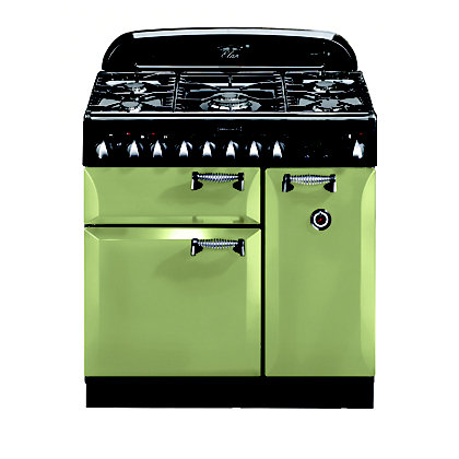 Image for Rangemaster 100960 Elan 90cm Dual Fuel Range Cooker - Olive Green from StoreName