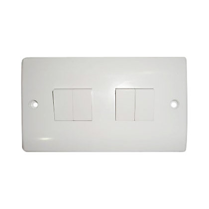 Image for Four Gang Two Way Switch - White from StoreName