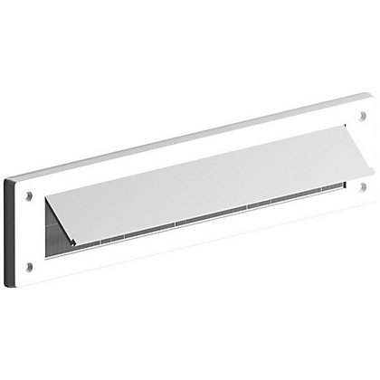 Image for Stormguard Internal Letter Box Plate with Flap Draught Excluder - White from StoreName