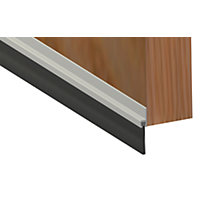 Stormguard Brush Bottom Door Strip - Aluminium