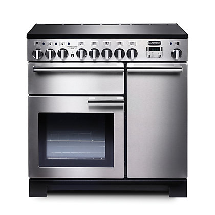 Image for Rangemaster Professional Deluxe 90cm Induction Range Cooker - Silver from StoreName