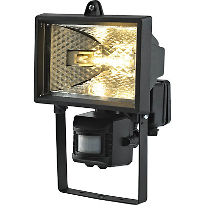 Image for Black 120W Floodlight with PIR from StoreName