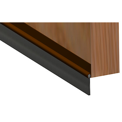 Image for Stormguard PVC Brush Door Bottom Strip - Brown from StoreName