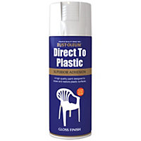 Rust-Oleum Direct to Plastic Spray Paint - White - 400ml