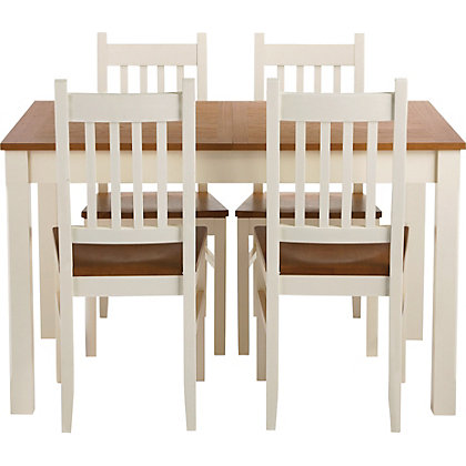 kentucky two tone extending table at homebase be. Black Bedroom Furniture Sets. Home Design Ideas