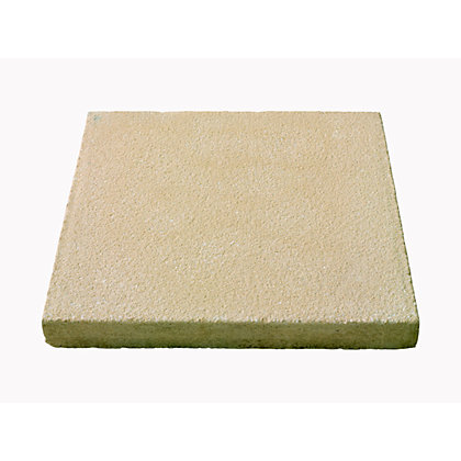 Image for Brett Textured Paving Single Size Patio Pack 600x600mm 9.36sq m 26 Pack - Buff from StoreName