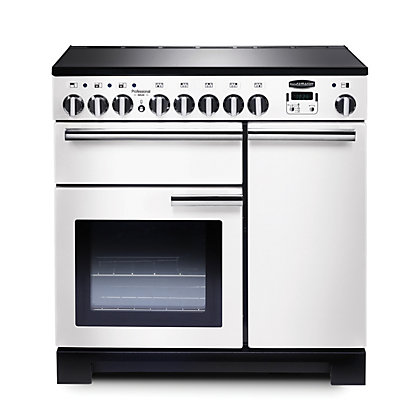 Image for Rangemaster Professional Deluxe 90 Induction Range Cooker -White from StoreName