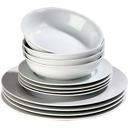 Image for Simplicity Dinnerware Set - 12 Pieces from StoreName