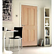 London 4 Panel White Oak Internal Door - 686mm Wide