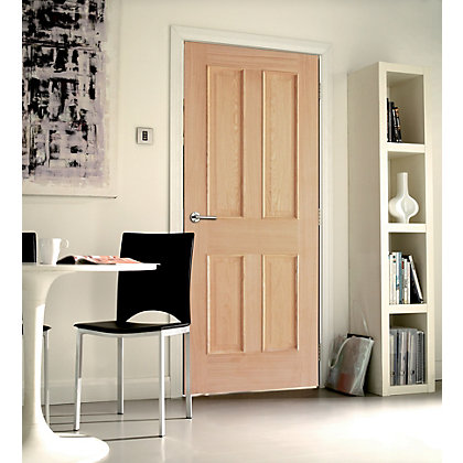 Image for London 4 Panel White Oak Internal Door - 762mm Wide from StoreName