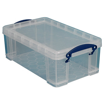 really useful 9l storage box clear. Black Bedroom Furniture Sets. Home Design Ideas
