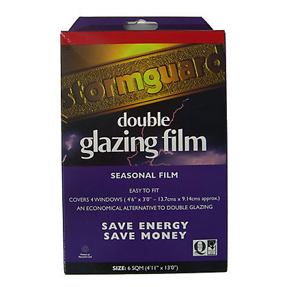Image for Stormguard Secondary Glazing Film Draught Excluder - 6sqm from StoreName