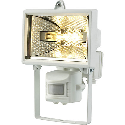 Image for White 120W Floodlight with PIR from StoreName