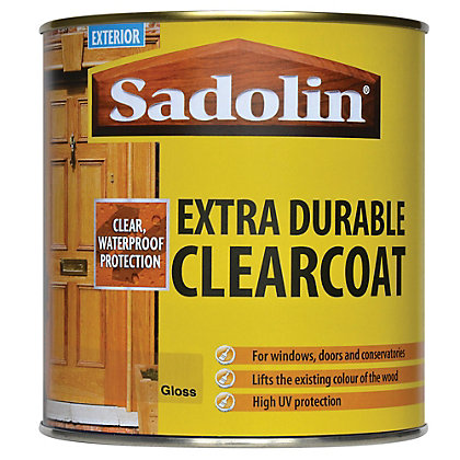 Image for Sadolin Extra Durable Clearcoat Varnish - Clear - 1L from StoreName