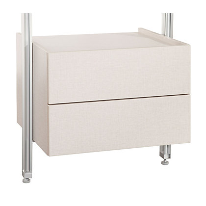 Image for Relax 2 Drawer Box Kit with Brackets - Linen - 550mm from StoreName