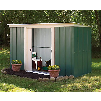 Rowlinson murryhill metal garage 12ft x 17ft at homebase for Garden shed homebase
