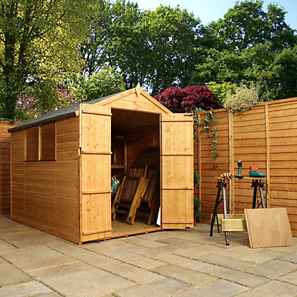 Image for Mercia Shiplap Apex 2 Door Shed - 8x6ft from StoreName