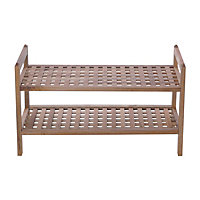 Home of Style Walnut Stackable Shoe Shelf