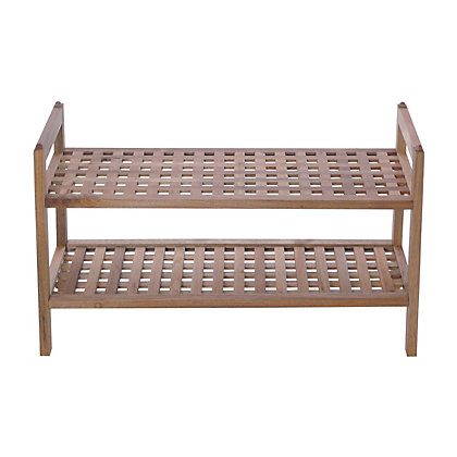 Image for Home of Style Walnut Stackable Shoe Shelf from StoreName
