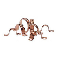 Saddle Clip - Copper - 15mm - 10 Pack