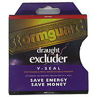 Stormguard 'V' Profile Self-Adhesive Draught Excluder Tape - Brown