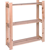 Pine Shelf Unit - 3 Tier