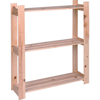 Image for Pine Shelf Unit - 3 Tier from StoreName