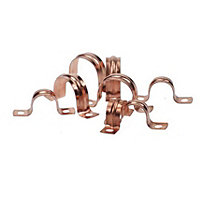Saddle Clip - Copper - 22mm - 10 Pack