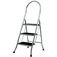 Abru Stepstool 3 Step - Chrome Finish