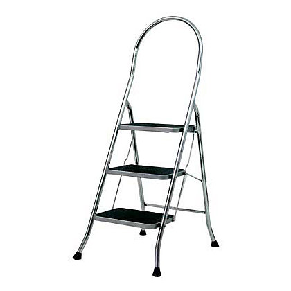 Image for Abru Stepstool 3 Step - Chrome Finish from StoreName