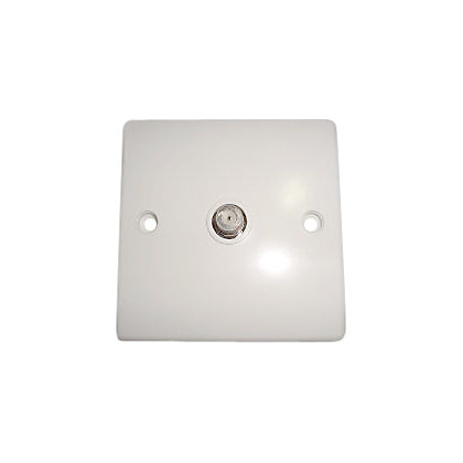 Image for 1 Gang Satellite F Socket - White from StoreName