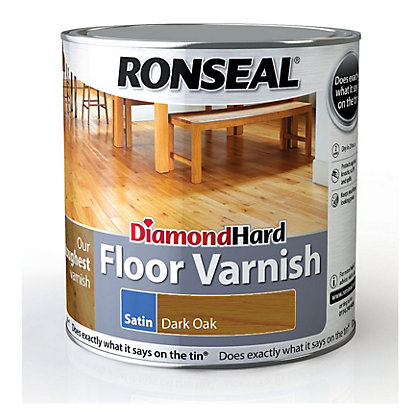Image for Ronseal Diamond Hard Floor Varnish Dark Oak - 2.5L from StoreName