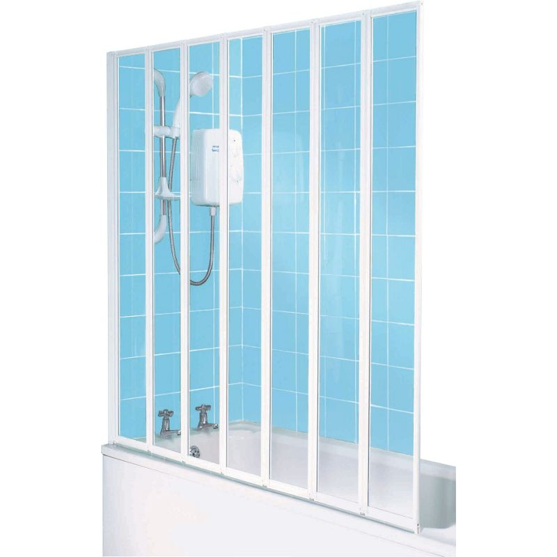 half framed radius clear silver shower screen