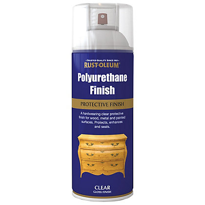 rust oleum polyurethane gloss spray paint clear 400ml