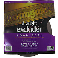 Stormguard Self-Adhesive Foam Draught Excluder - Brown