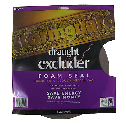 Image for Stormguard Self-Adhesive Foam Draught Excluder - Brown from StoreName