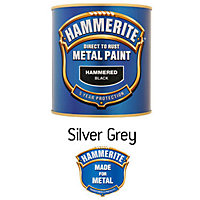 Image for Hammerite Silver Grey - Hammered Exterior Metal Paint ...